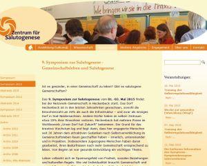 Screenshot Zentrum für Salutogenese